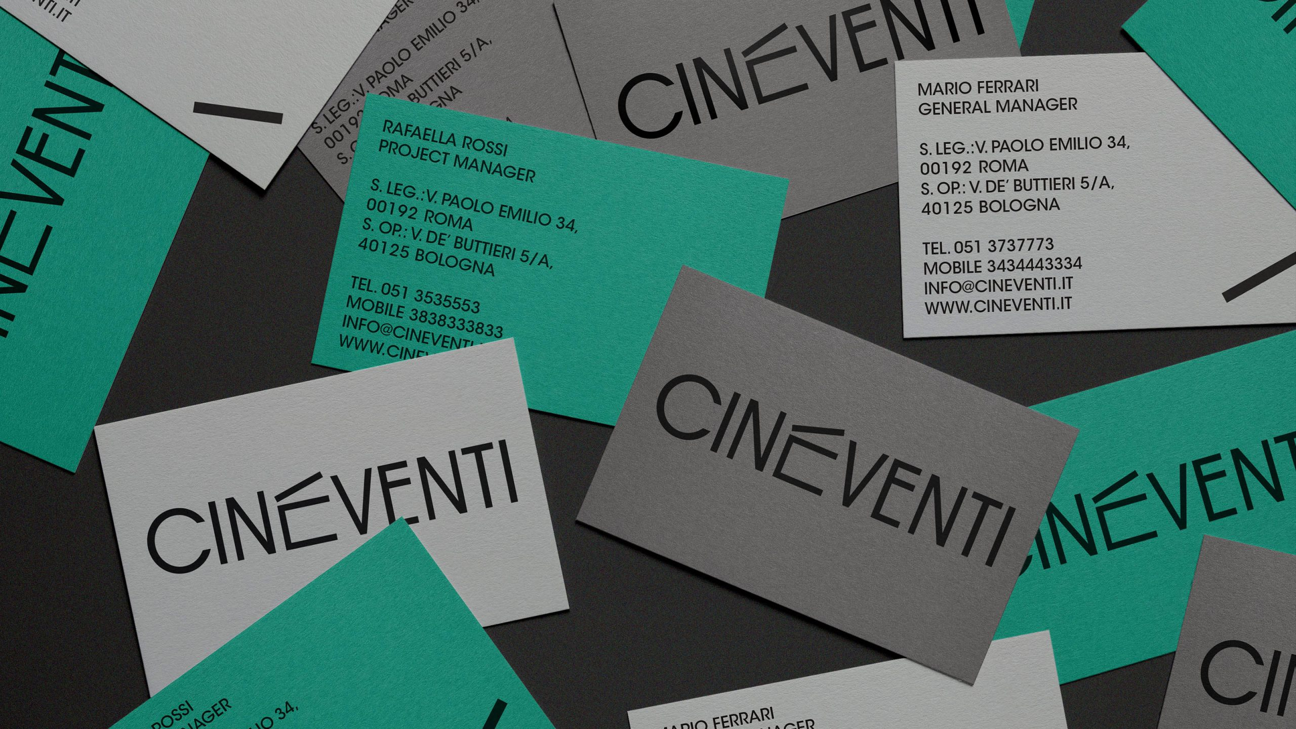 Brand refresh for Cineventi<br />Logo, visual system and stationary desing