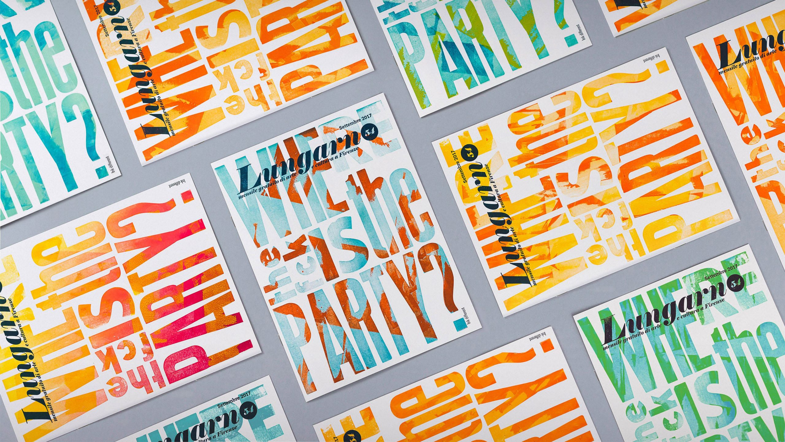 Cover design for Lungarno Magazine<br />Thirty unique letterpress prints made with Ink Different
