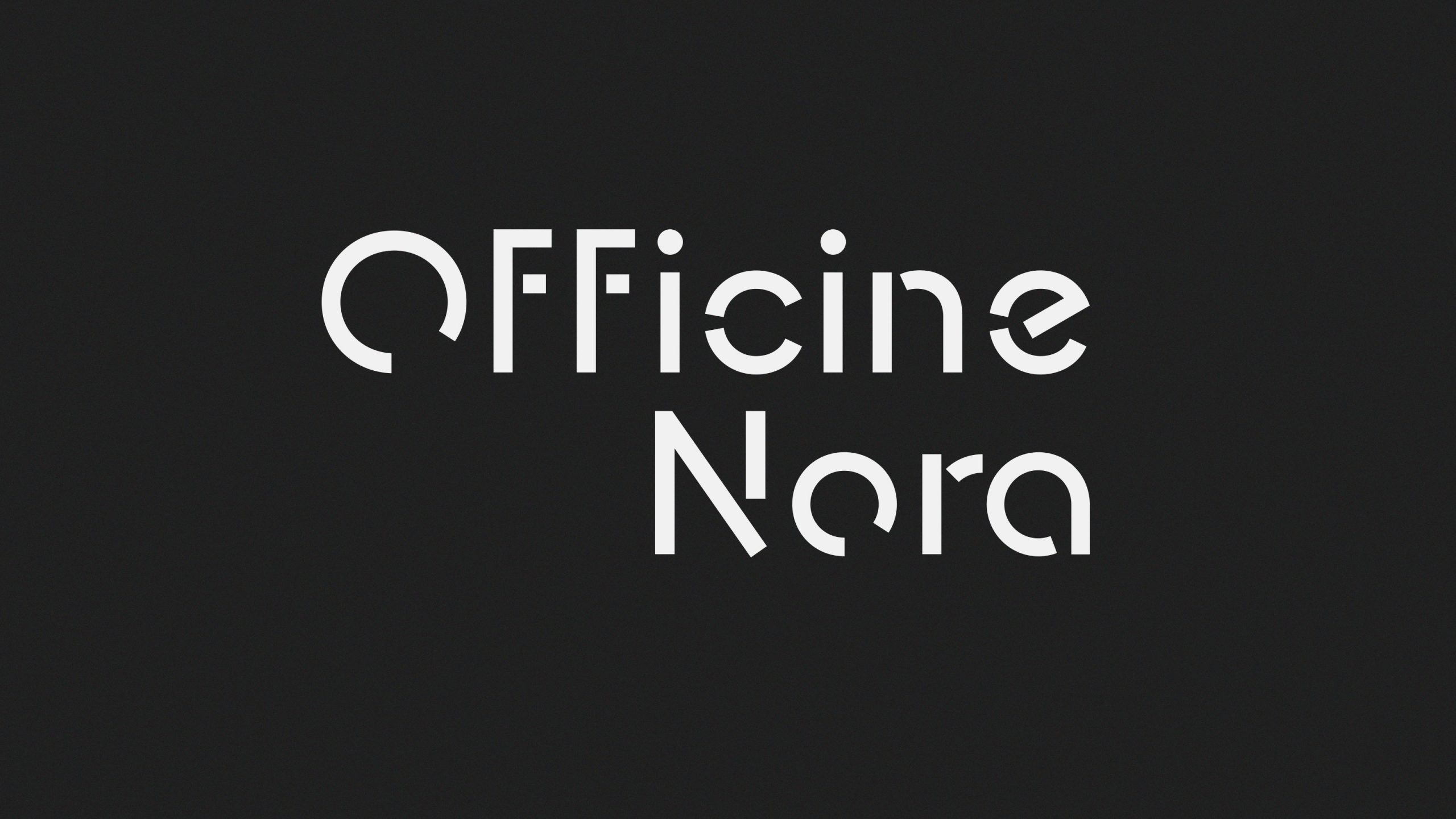 Brand Identity for Officine Nora<br />Logo, website and environmental graphics.
